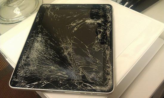 Ipad bị bể màn hình