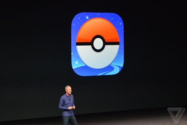 pokemon go và mario tại sự kiện ra mắt iphone 7