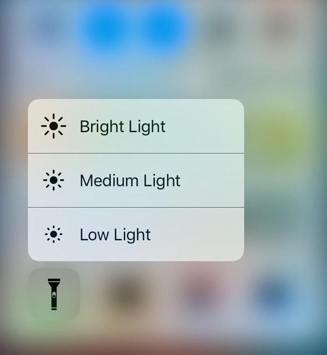 đèn pin trên ios 10