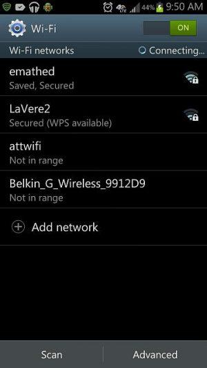 android không bắt được wifi