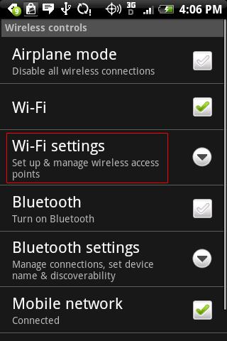 thiết bị android không kết nối được wifi