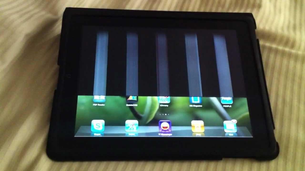 Ipad bị đen một nửa hoặc đen toàn màn hình