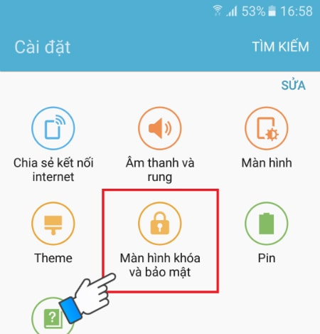 Bảo mật vân tay trên Samsung J7 Prime