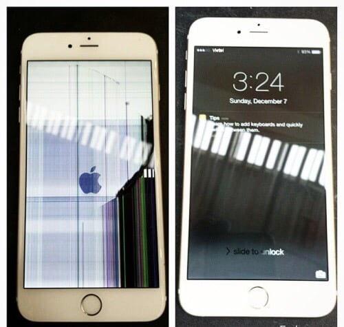 màn hình Iphone 6/ 6 Plus bị nhiễu