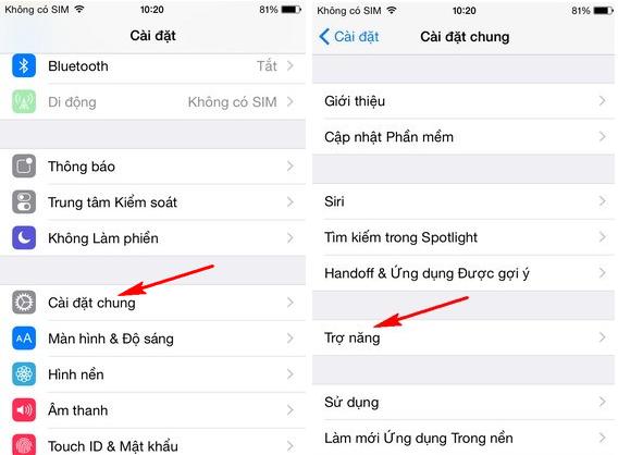 iphone 6 bị phóng to màn hình