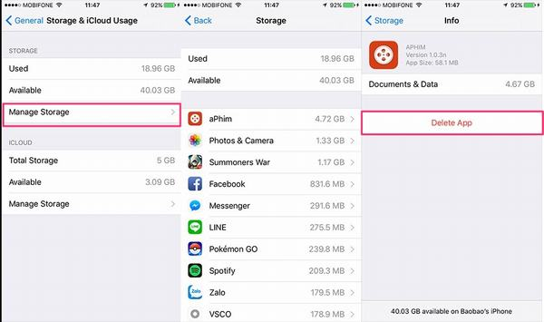 ứng dụng tải về iphone bị treo