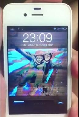 Màn hình iphone 5 bị nhiễu màu