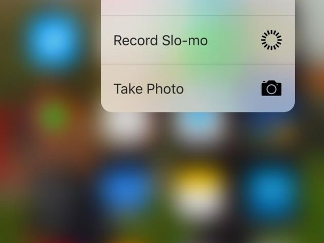 3d touch trên iphone 6s