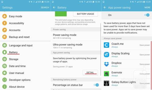 Tiết kiệm pin cho Galaxy S7 Edge
