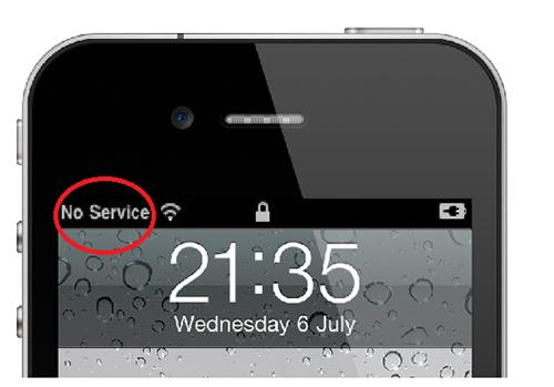 Khắc phục lỗi iPhone 5s mất sóng