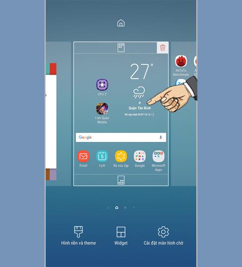 Thêm tiện ích con, thêm thời gian sử dụng trên Samsung Galaxy J7 Pro