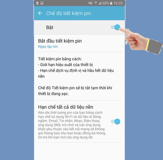 Thử bật chế độ tiết kiệm pin Samsung Galaxy J7 Prime rồi bạn sẽ thấy