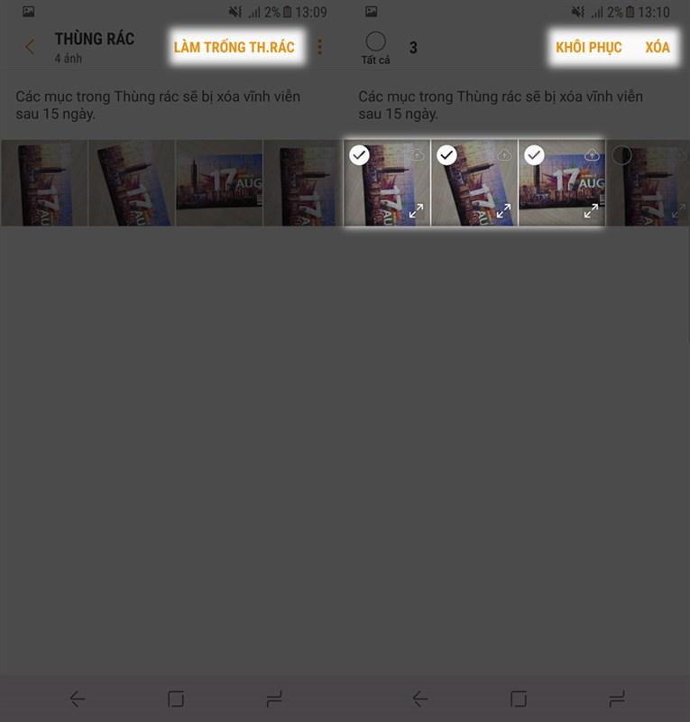 Cách dùng Samsung Cloud để khôi phục hình đã xóa trên smartphone